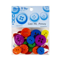 Dress it Up Embellishment Buttons 18pc - Color Me Primary