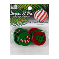 Dress It Up Embellishment Buttons - 5pc - Sew Fun Christmas