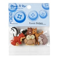 Forest Babies 6ct Button Pack