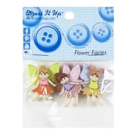 Flower Fairies 3ct Button Pack