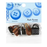 Posh Purses 5ct Button Pack