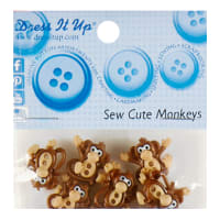 Sew Cute Monkey 8ct Button Pack
