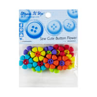 Dress it Up Embellishment Buttons 12pc - Sew Cute Button Flower