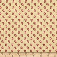 P&B Textiles Sarah French Berry Red
