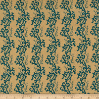P&B Textiles Sarah French Scroll Blue