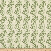 P&B Textiles Sarah French Scroll Green