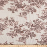 Whitney Sequin Floral Embroidery Mauve