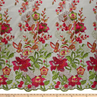 Alexandra Wild Flower Embroidery Green