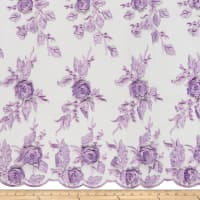 3D Flower and Petals Micro Mesh Lilac
