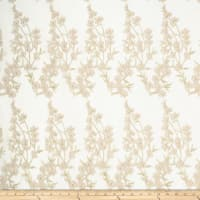 Jasmine Garden Embroidery Micro Mesh Champagne Gold