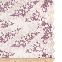 3D Multi Flower Embroidery Blush/Victorian Lilac