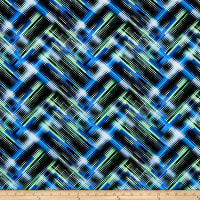 Digital Path Spandex Tricot Black/Blue/Green