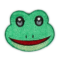 Iron-On Applique Patch Frog Green