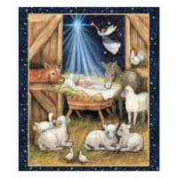 Susan Winget Nativity Barn Panel Multi (Sold by the Yard)