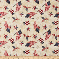 Wilmington American Valor Patriotic Toss Tan