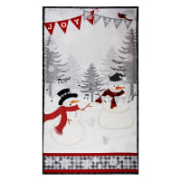 "Wilmington Snowy Wishes Large 24"" Panel Multi"