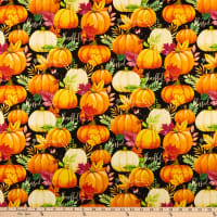 Wilmington Happy Gatherings Pumpkin Allover Black