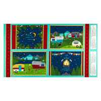 "Wilmington Gone Glamping! 24"" Placemat Panel Multi"