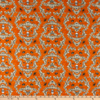 Wilmington Gone Batty Creepy Crawley Damask Orange