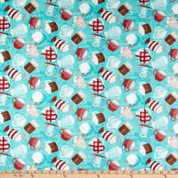 Wilmington Cuppa Cocoa Tossed Cups Teal