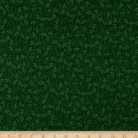 Wilmington Essentials Evergreen Sprouts Green on Green