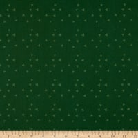 Wilmington Essentials Evergreen Tossed Triangles Green on Green
