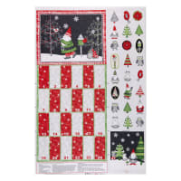 "Wilmington Winter Gnomes Calendar 30"" Panel Multi"