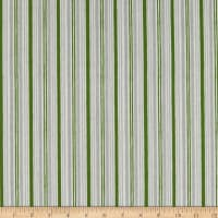 Wilmington Winter Gnomes Winter Time Stripe Green
