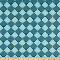 Riley Blake Dragons Checkered Blue