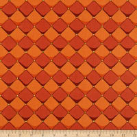 Riley Blake Dragons Checkered Orange