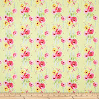 Riley Blake Fruitful Pleasures Floral Green