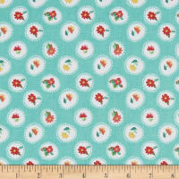 Riley Blake Hand Picked Posie Aqua