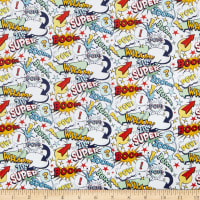 Riley Blake Super Hero Novelty White