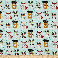 Riley Blake Super Dog Novelty Teal