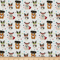 Riley Blake Super Dog Novelty Cream