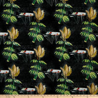 Linen Blend Banana Boat Black/Multi