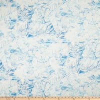 Linen Blend Fern Valley Blue/Off-White