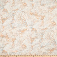Linen Blend Fern Valley Papaya/Slate/Off-White