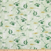 Linen Blend The Reef Island Green/Multi