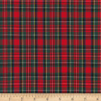 Kaufman Sevenberry: Classic Plaids Red/ Green