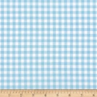 Kaufman Sevenberry: Petite Basics Gingham Blue