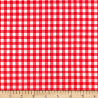 Kaufman Sevenberry: Petite Basics Gingham Red