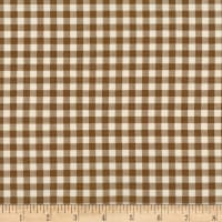 Kaufman Sevenberry: Petite Basics Gingham Brown