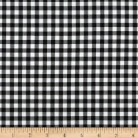 Kaufman Sevenberry: Petite Basics Gingham Black