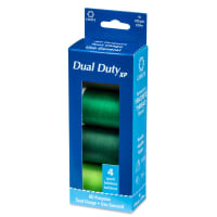 Coats & Clark Dual Duty 4 Spool Box Assortment - Greens