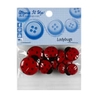 Ladybugs 10ct Button Pack