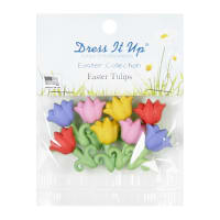 Easter Tulips 8ct Button Pack