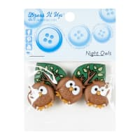 Night Owls 5ct Button Pack