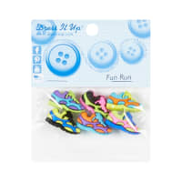 Sew Cute Fun Run 6ct Button Pack