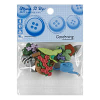Sew Cute Gardening 8ct Button Pack